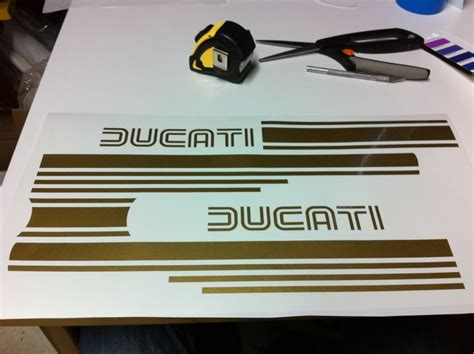 Automotive Wall Murals ducati stripes betacuts custom vinyl design amp sign shop