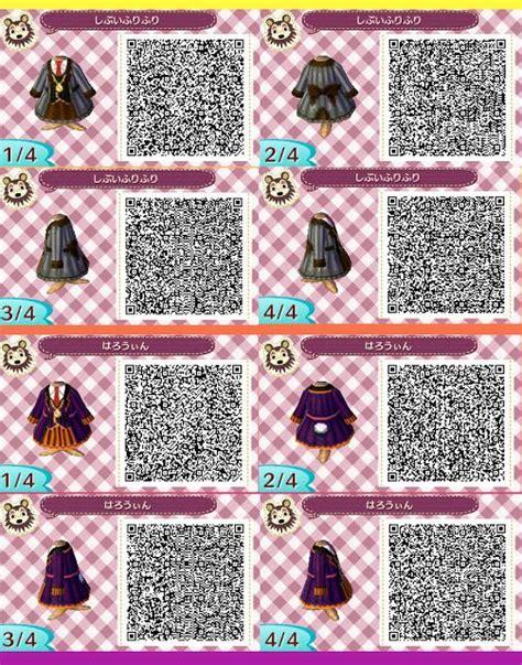 acnl hair qr codes animal crossing new leaf qr codes clothing halloween