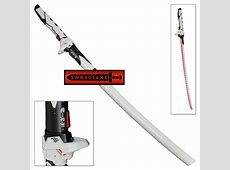 Over White Cyber Ninja Watch Sci-Fi Katana Swift Strike ... Japanese Katana Sword White