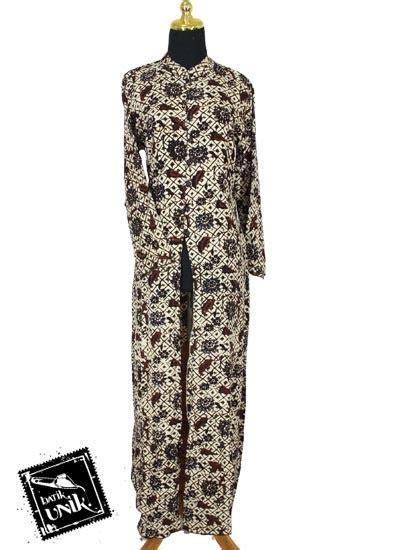 Gamis Anak Twill Mono Pelangi baju batik gamis jubah motif batik parang sogan soft
