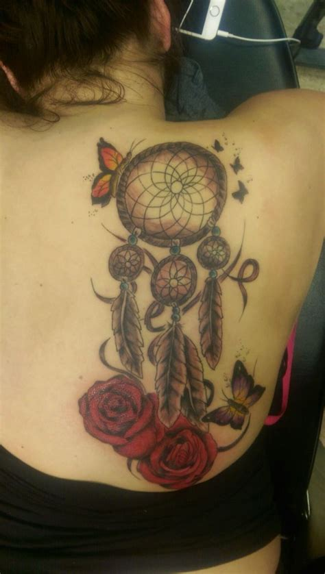 tattoo dreamcatcher butterfly butterfly dream catcher rose tattoo tattoos