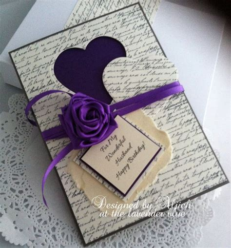Handmade Gifts For Husbands Birthday - husband fiance birthday card handmade any by