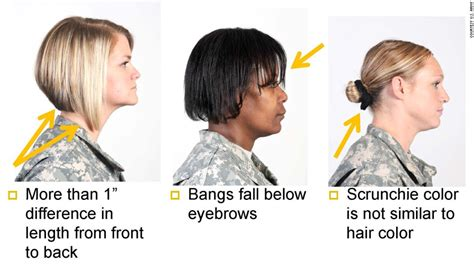 female haircut army regulations u s army s new hairstyle rules