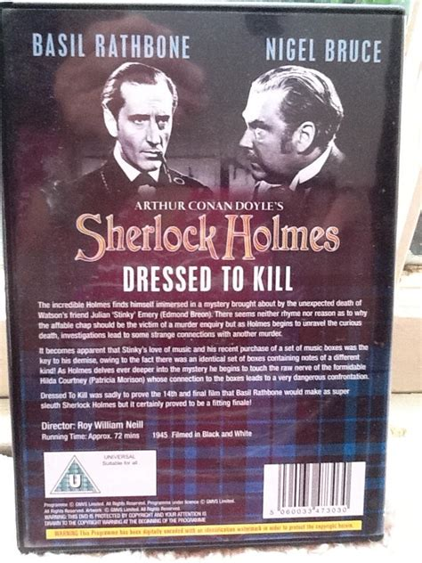 A Place To Kill Dvd Review Basil Rathbone Sherlock Dressed To Kill Dvd 1945 Review Buy Uk Dvd