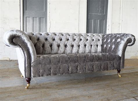 silver chesterfield sofa harlow velvet chesterfield sofa abode sofas