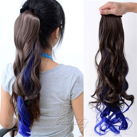 ombre ponytail technique new style ombre clip in ponytail pony tail hair extension