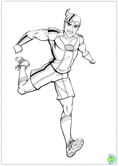 free coloring pages of lazy town pirate