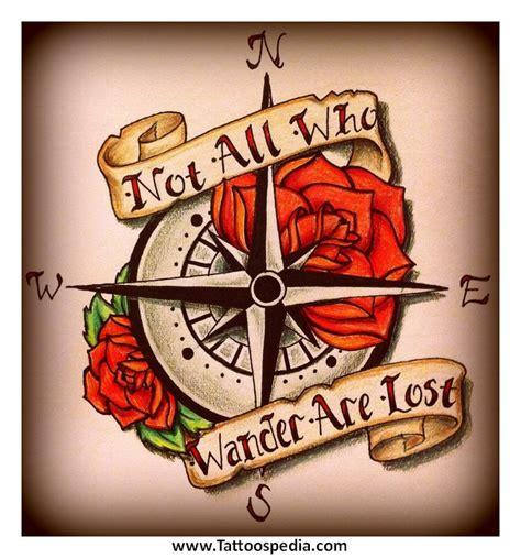 tattoo compass heart tony baxter