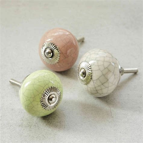 Cupboard Door Knobs by Pink Green And Crackled Ceramic Knobs By Pushka