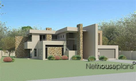 modern double story house plans m474d nethouseplans
