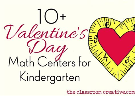 valentines day kindergarten kindergarten math center ideas