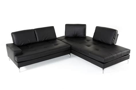 Voyager Sectional by Estro Salotti Voyager Modern Black Leather Sectional Sofa