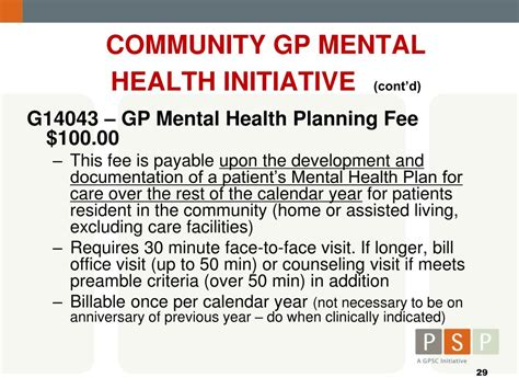 section 127 mental health act ppt gpsc and related msp fees powerpoint presentation
