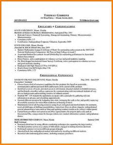 Resume Template For Internships For College Students 8 How To Write A Cv For Internship Appeal Letters Sample