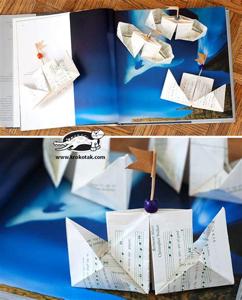 Origami Ships - krokotak origami ships