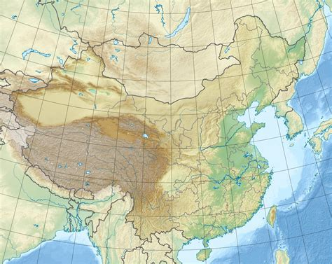 what is a physical map physical map of china size