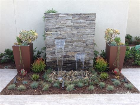 Of Contemporary Outdoor Water Fountains Ideas Article Backyard Feature Wall Ideas