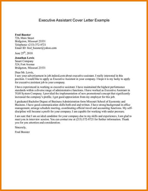 administrative assistant cover letter sle assistant cover letter