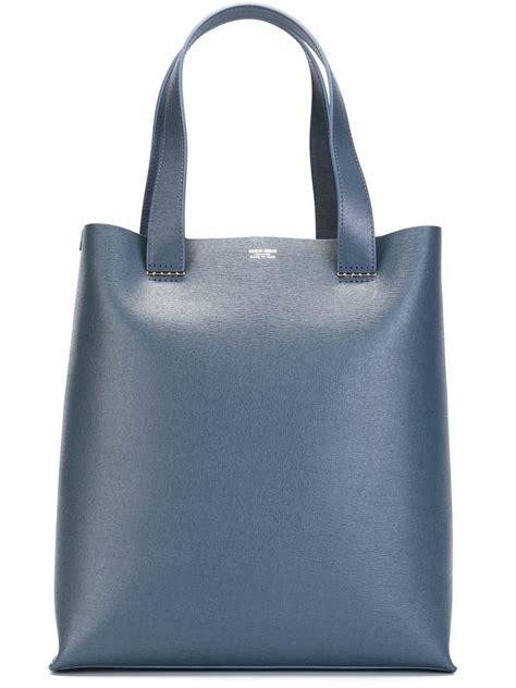 Bag Giorgio Armani 818 2 giorgio armani square tote bag in blue lyst