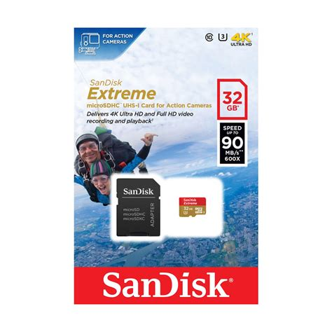 Sandisk 32gb Micro Sd Uhs3 90mbps قیمت خریدsandisk uhs i u3 class 10 90mbps 600x microsdhc with adapter 32gb مشخصات