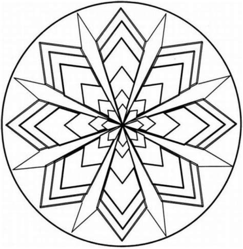 printable kaleidoscope coloring pages for adults pinterest the world s catalog of ideas