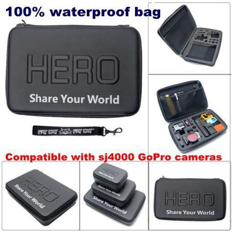Tas Baghero Waterproof Small Size Gopro Xiaomi Yi Kogan waterproof small size for gopro xiaomi yi xiaomi yi 2 4k black