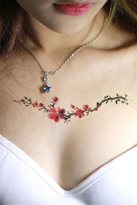small flower vine tattoos leena small watercolor floral flower vine temporary