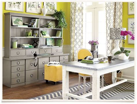 ballard designs office ballard designs hudson home office yellow grey black white p