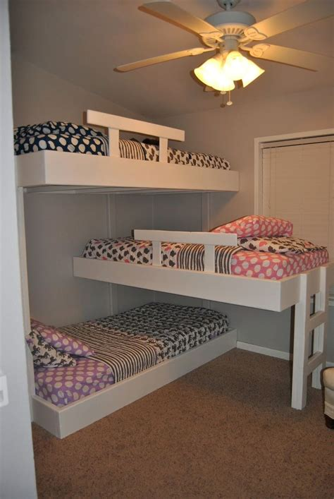 Small Room Bunk Beds Best 25 4 Bunk Beds Ideas On Bunk Beds For 3 Built In Bunks And Bunk Beds Built In
