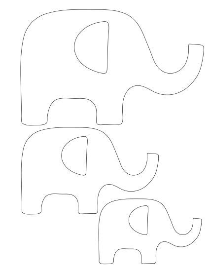 elephant template elephant applique elephants