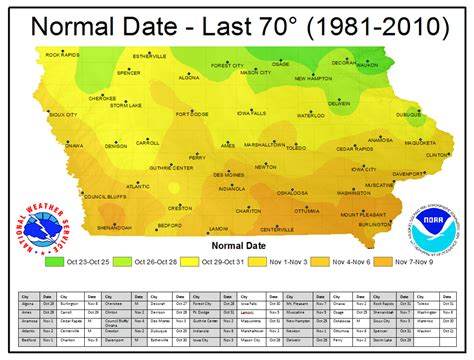 iowa road conditions color map iowa climate normals maps