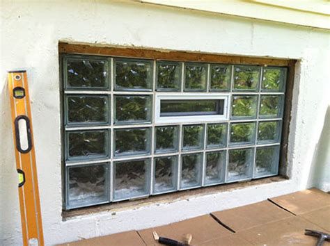 basement security windows in st louis glass block
