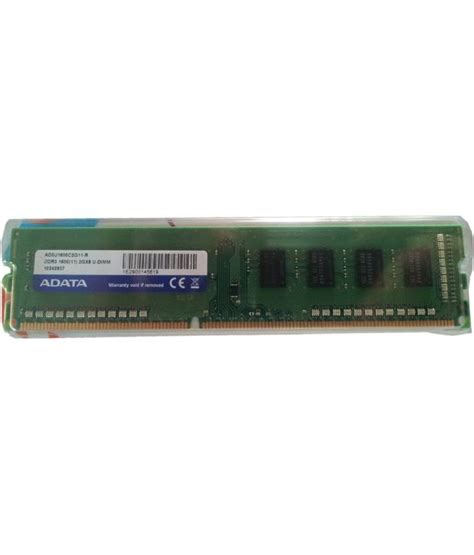 ddr ram 2gb price adata 2 gb ddr3 ram 1600 mhz available at snapdeal for rs 1338
