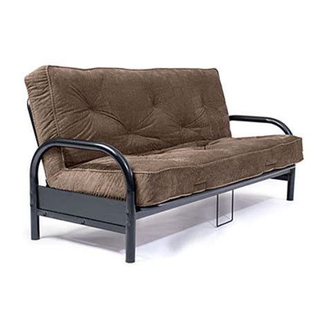 Plush Futon by Black Futon Frame With Check Plush Futon Mattress Set