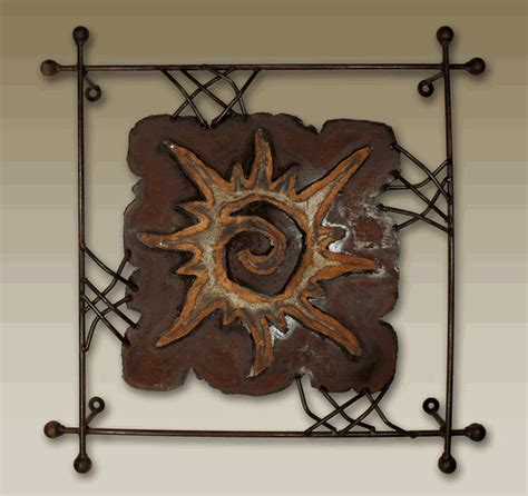 small metal wall decor sun quot rawhide quot metal wall small