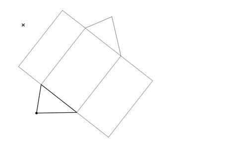 net pattern of triangular prism net of a triangular prism geogebra