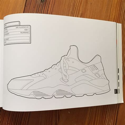 the sneaker coloring book air huarache 1991 page 95 in the sneaker coloring book