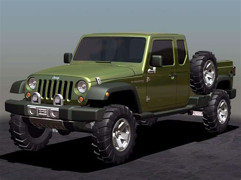 new jeep truck concept 2005 jeep gladiator concept pictures review