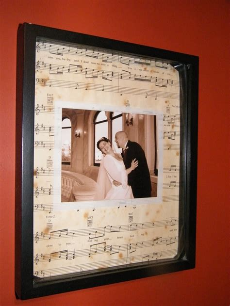 Wedding Song Framed by Wedding Picture Framed And Put On Sheet Of Our