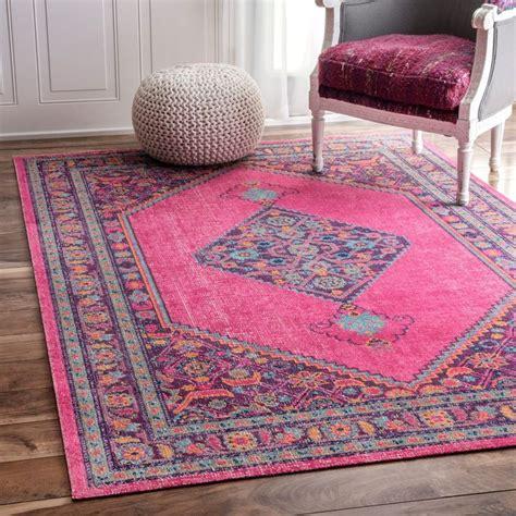 large pink area rug nuloom vintage border pink rug 5 x 7 5 pink size 5 x 8 cotton pink