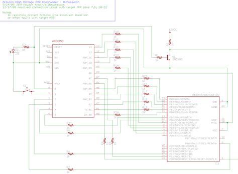 high voltage serial programming avr arduino based avr high voltage programmer mightyohm