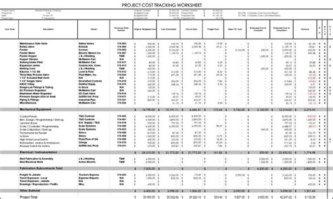 project cost tracking template project budget template free premium