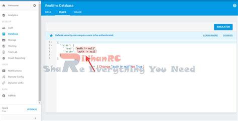 firebase rules tutorial ridhan rc cara membuat projek baru di firebase dengan mudah
