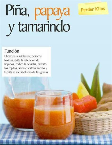 Papaya Seed Detox Recipe by Pi 241 A Papaya Y Tamarindo Pierde Peso Jugos Naturales