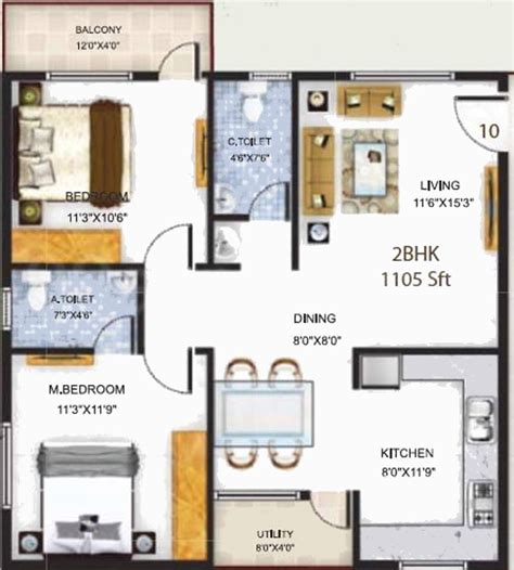 serenity floor plan 1105 sq ft 2 bhk 2t apartment for sale in baldota group serenity hosa road bangalore