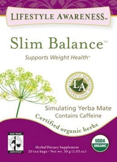 Lifestyle Awareness Tea Balance Detox by Slim Balance Support Weight Health Herbal Tea By Lifestyle