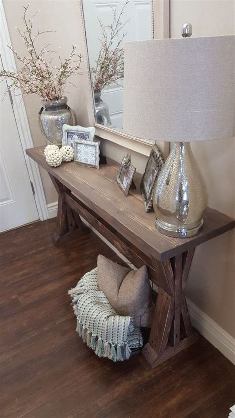 small rustic entryway table rustic farmhouse entryway table by modernrefinement on