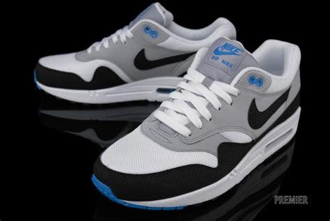 Nike Airmax One Black Grey nike air max 1 essential white black wolf grey photo blue sole collector