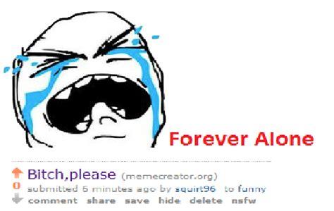 forever alone template meme creator forever alone meme generator at memecreator