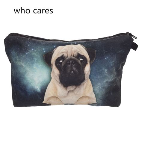 pug toiletry bag trend cosmetic bag new neceser portable make up bag 3d print galaxy pug